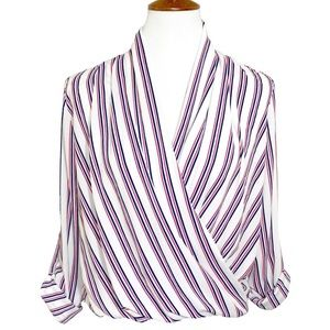 Romeo & Juliet Couture High Low Faux Wrap Blouse